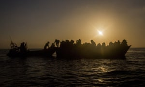 Spanish NGO Proactiva Open Arms assists refugees and migrants who left Libya for Europe on 2 March 2017.