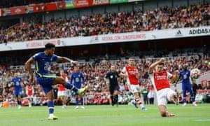 Игрок «Челси» Рис Джеймс забил свой второй гол.