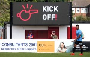 Kick off scoreboard