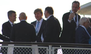 King Willem-Alexander of the Netherlands chats on.
