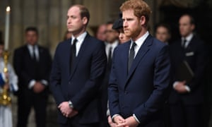 Princes William and Prince Harry at the Service of Hope in Westminster Abbey.
