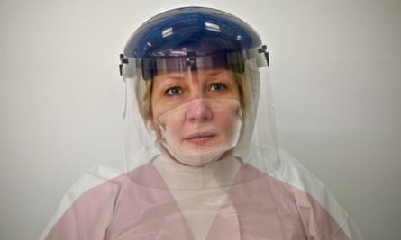 Donna Wood in 2014 DfID campaign Medics Behind the Mask