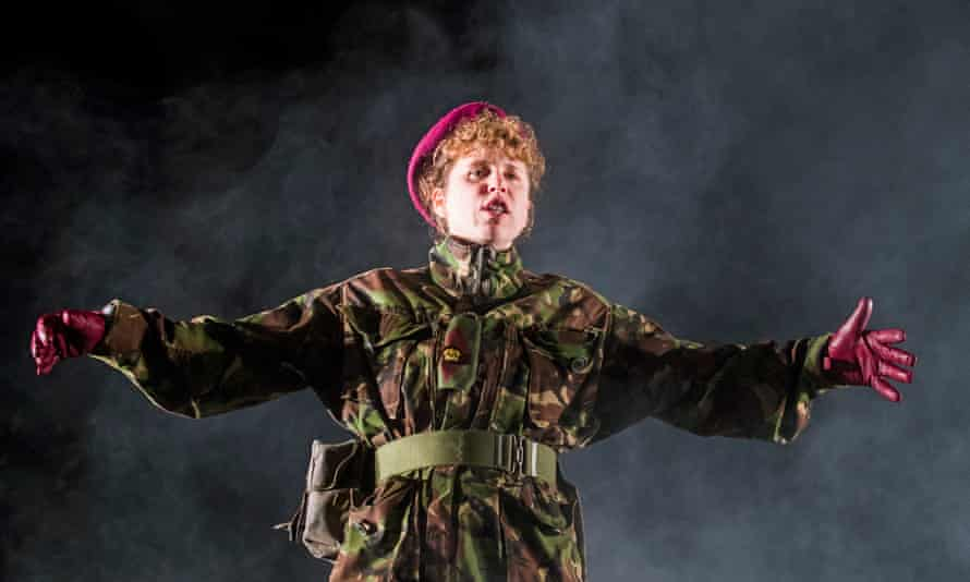 Michelle Terry plays Henry V, in an acclaimed performance at the Regent's Park theatre last year.
