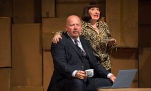 Robert Burt and Beverley Klein as Mr and Mrs Peachum in The Beggar's Opera, at the Edinburgh international festival 2018.