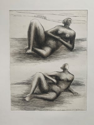 Two Reclining Figures (State 2/3), 1977, Henry Moore