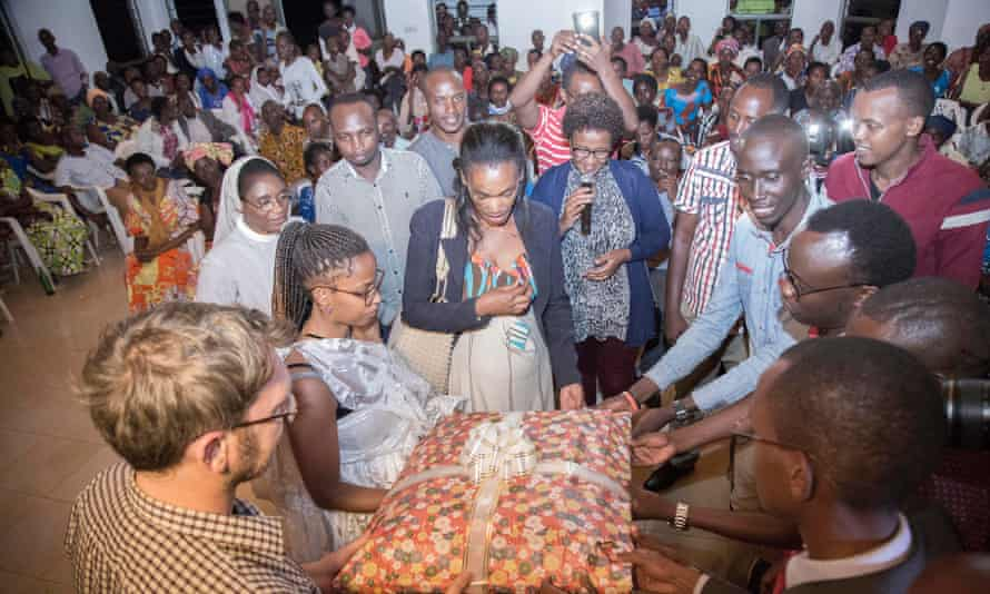 The couple was given welcome home gifts and presents by the local community and relatives during the reunion ceremony that took place in Bugesera District on October 3rd,2017.
