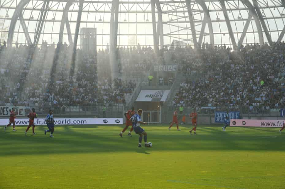 Grenoble play Monaco at Stade Des Alpes.