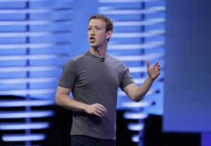 Mark Zuckerberg delivers the keynote address at the F8 Facebook Developer Conference in San Francisco.