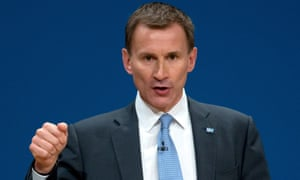 Jeremy Hunt told the Conservative party conference he would replace foreign doctors with British ones.