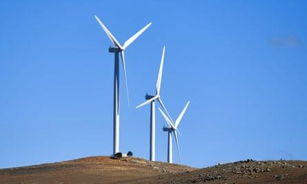 Turbines at a wind farm