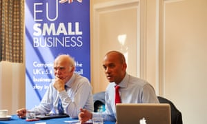 Sir Vince Cable and Chuka Umunna MP speak at the press launch of the EU Small Business campaign