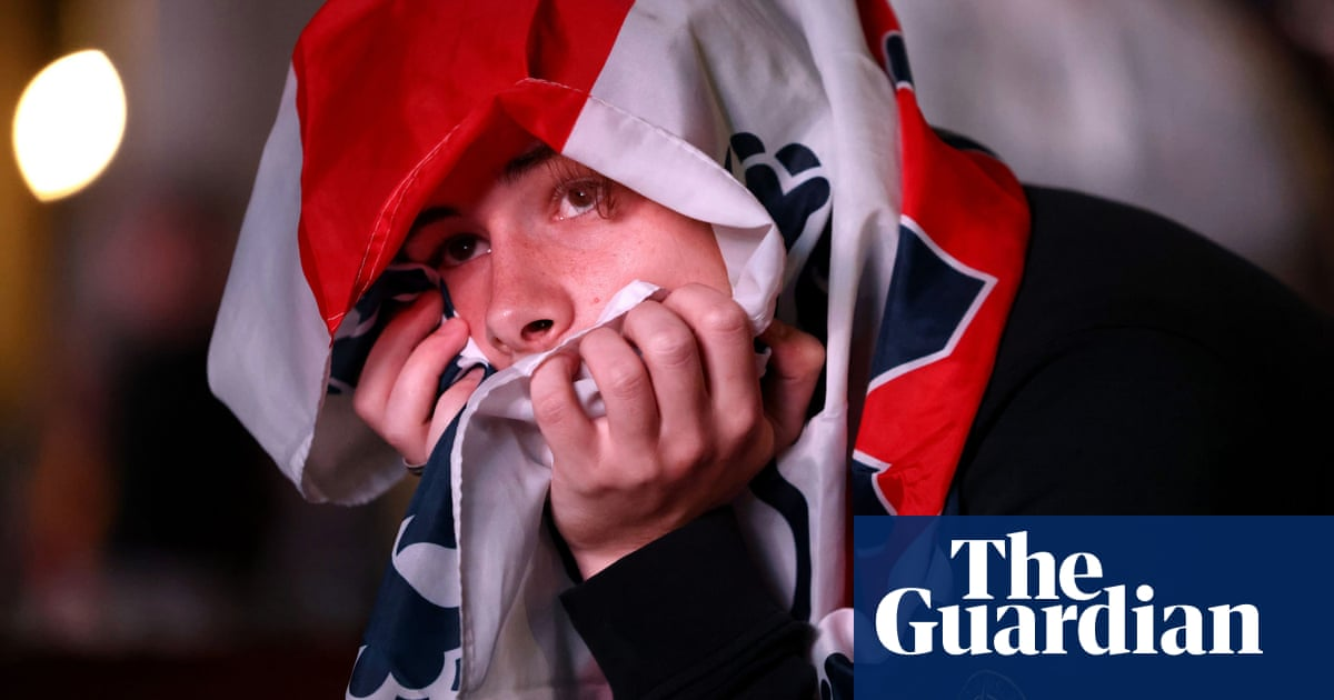 'Being an England fan is horrible': silence and disbelief at fan zone