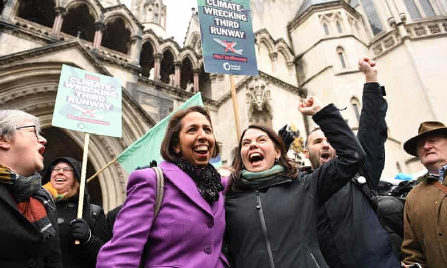 Campaigners cheer outside the Royal Courts of Justice in London after the ruling.