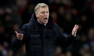 Sunderland's manager, David Moyes