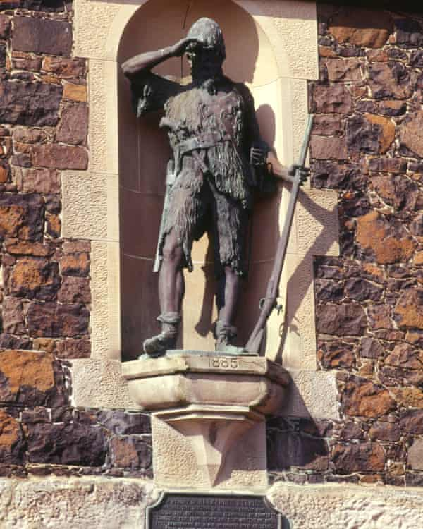 Statue of Alexander Selkirk (Robinson Crusoe) in Lower Largo, Fife.
