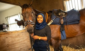 Khadijah Mellah pictured at the British Racing School in Newmarket.