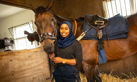 Khadijah Mellah pictured at the British Racing School in Newmarket.