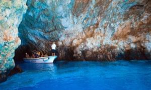 Blue Cave, Bisevo, Croatia.
