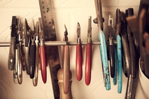 'I've had nearly all of my tools since I was at college. All the pliers still have my name on them to stop other students nicking them as everybody had the same starter kits so they all looked the same. They're still OK but they could probably do with a good clean.'