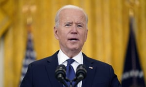Biden said at the meeting on Tuesday: 'Americans from every walk of life are getting their vaccines, but we got more to do though.'