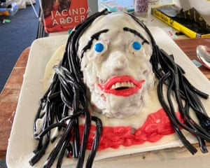 Laura Daniel's Jacinda Ardern cake.