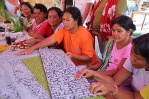 Community Bank members in Bantayan see Interface's Human Nature range
