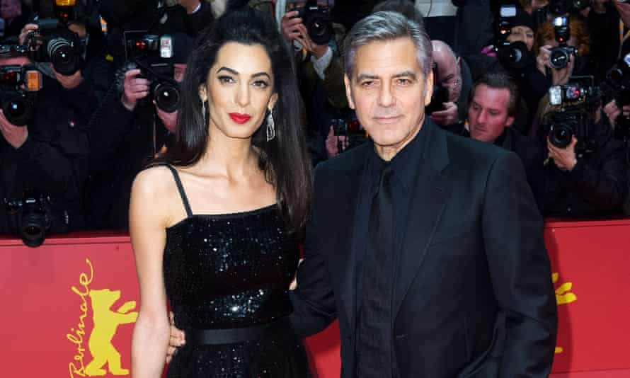 Amal and George Clooney at the Hail, Caesar premiere.