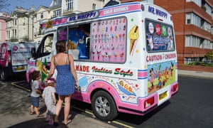 An ice cream van in the borough of Camden