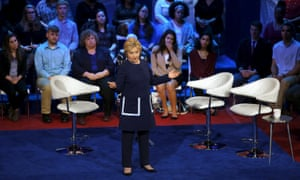 Hillary Clinton at the Democratic town hall.