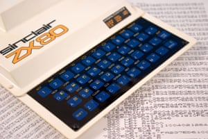 A Sinclair ZX80 home computer.