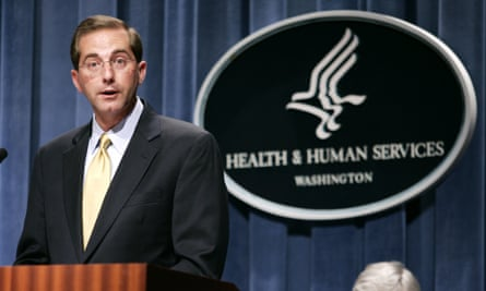 Alex Azar worked in the drug industry for roughly 10 years after leaving a post in George W Bush's health department.