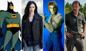 Batman - The Animated Series, Jessica Jones, The Incredible Hulk and The Walking Dead.