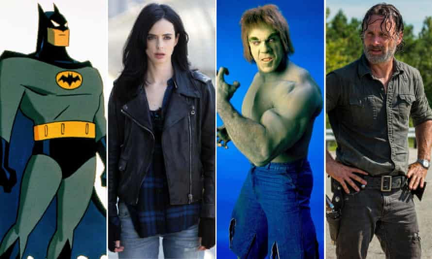 Batman - The Animated Series, Jessica Jones, The Incredible Hulk and The Walking Dead.