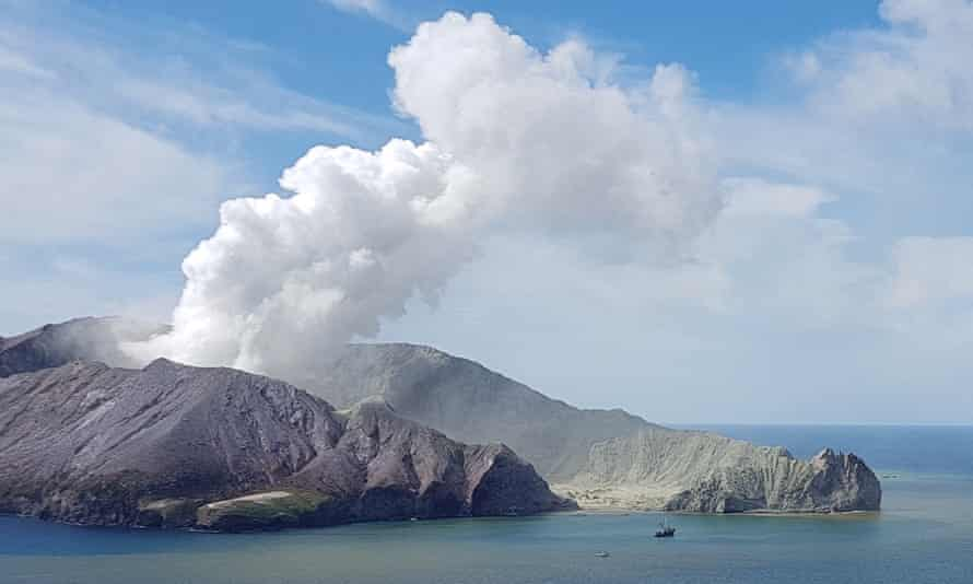 White Island volcano after the December eruption
