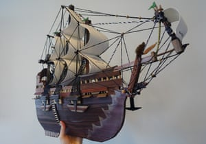 Giant, a model ship made by Moath al-Alwi.