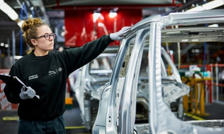 Female apprentice at the Jaguar Land Rover factory