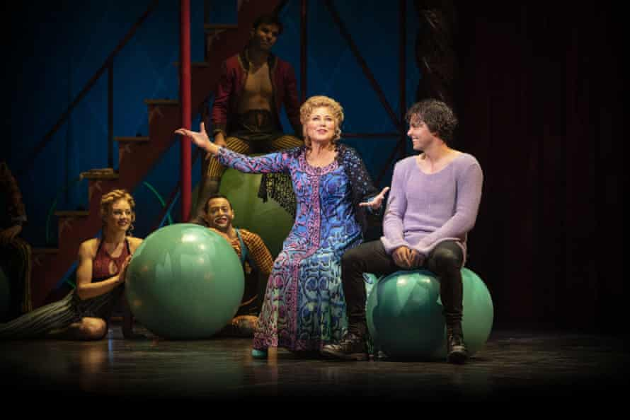 Kerri-Anne Kennerley and Ainsley Melham in Pippin.