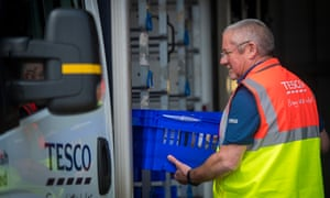 A Tesco delivery driver