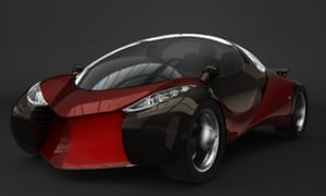 Hybrid wind and solar car