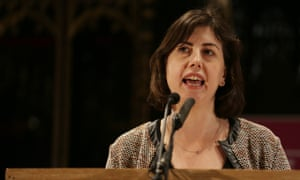 Lucy Powell, shadow education secretary, speaks at a meeting in Manchester