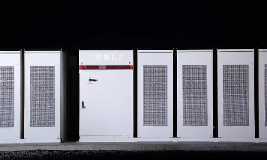 Powerpacks making up the Tesla battery in South Australia.