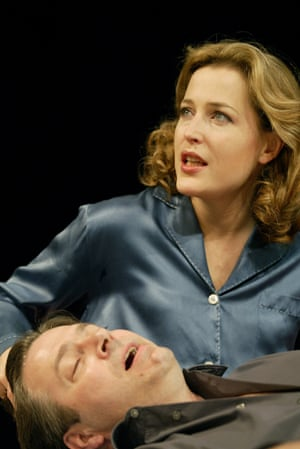 Anderson and Roger Allam in Michael Weller's What the Night is for at the Comedy theatre, London, in 2002
