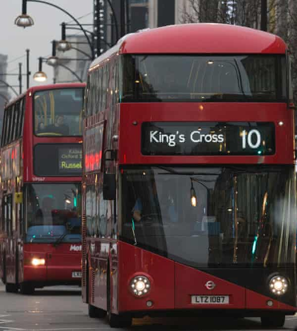Double-decker buses