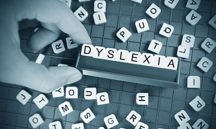 Dyslexia spelled out on Scrabble board