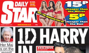 A Daily Star front page