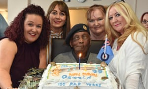 Oswald Dixon on his 99th birthday in 2018
