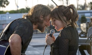 Supercharged with melodrama … Bradley Cooper and Lady Gaga in A Star Is Born.
