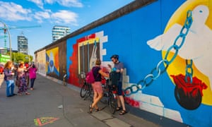 Picture this … Berlin's East Side Gallery, with the Living Bauhaus building and new hotels and clubs in Friedrichshain