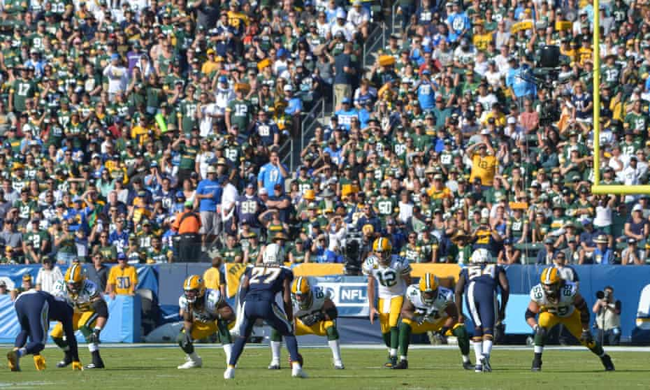 The stands were a sea of Packers green rather than Chargers blue when the teams met in LA on Sunday