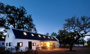 A Babylonstoren cottage by night, in the Drakenstein Valley.